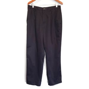 TOMMY HILFIGER Pleated Trouser Pants Straight Leg